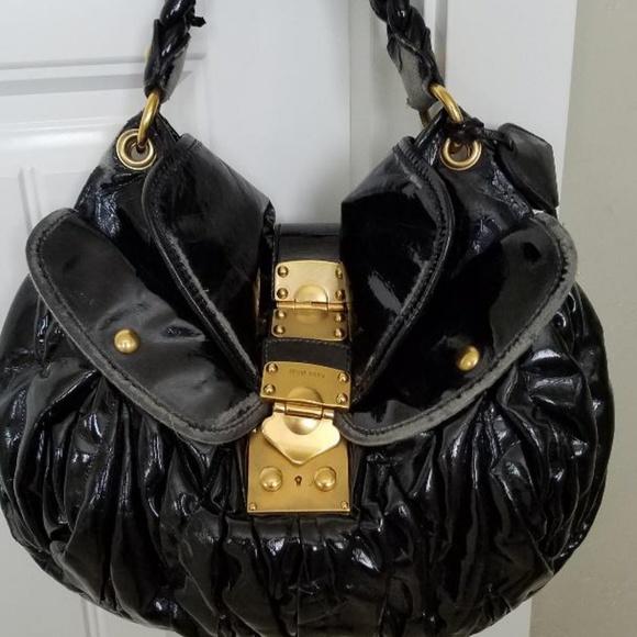 44ed5a653a623 Authentic Miu Miu Patent Leather Coffer Bag! 15